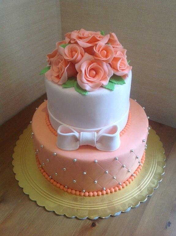 Как сделать букетик на тортике?
