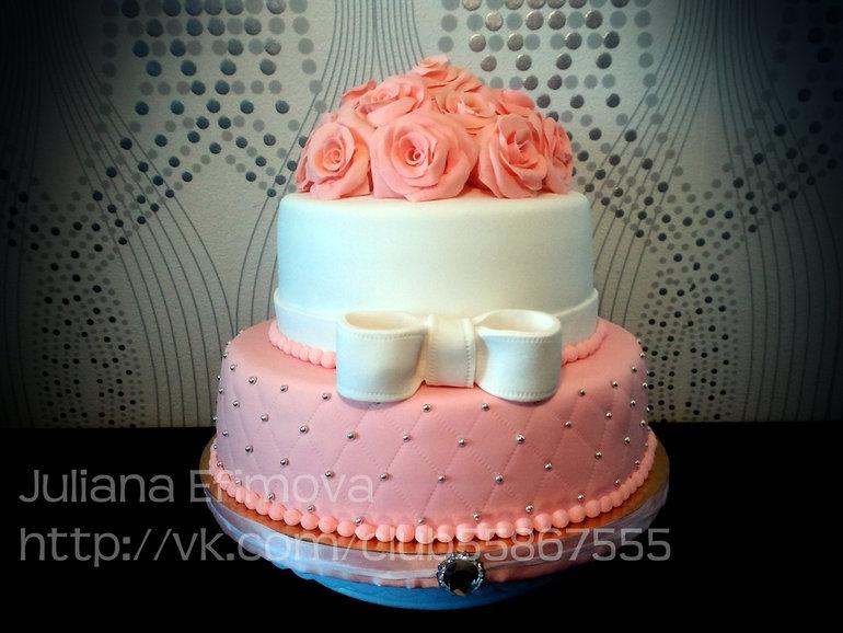 Мой первый свадебный торт