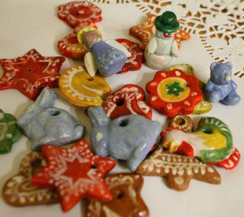 Поделки из соленого теста новогодние игрушки
