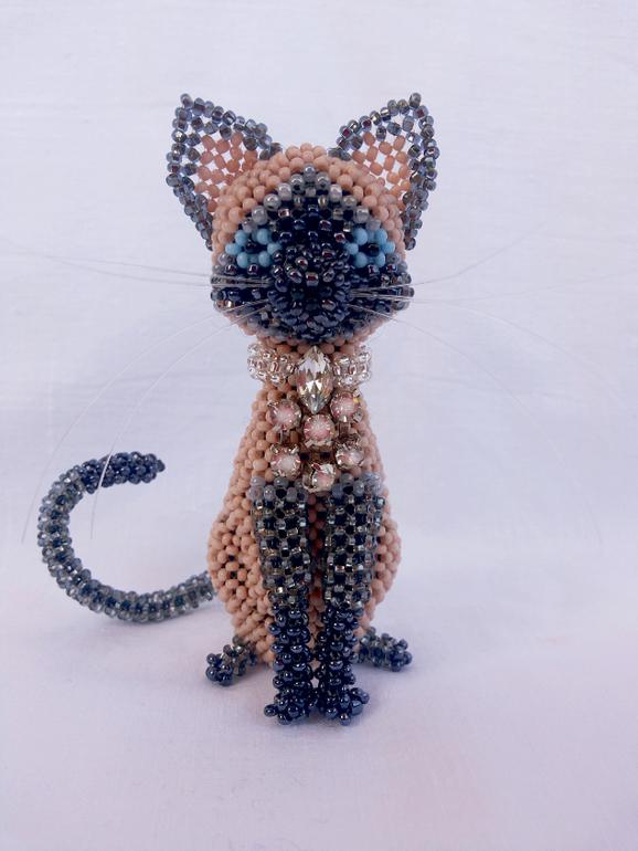Кошек мастер класс бисером - Мужской шарф спицами Черная Ночь Вяжем с Лана Ви