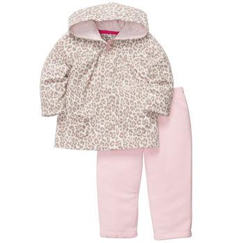 Carters флисовый комплект пуловер+брюки «Леопард»