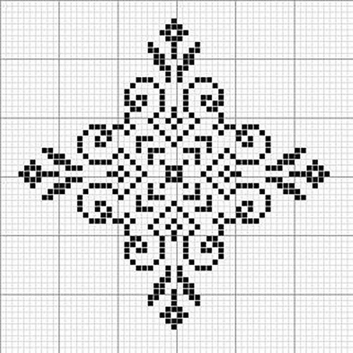 Снежинка схема вышивки крестом