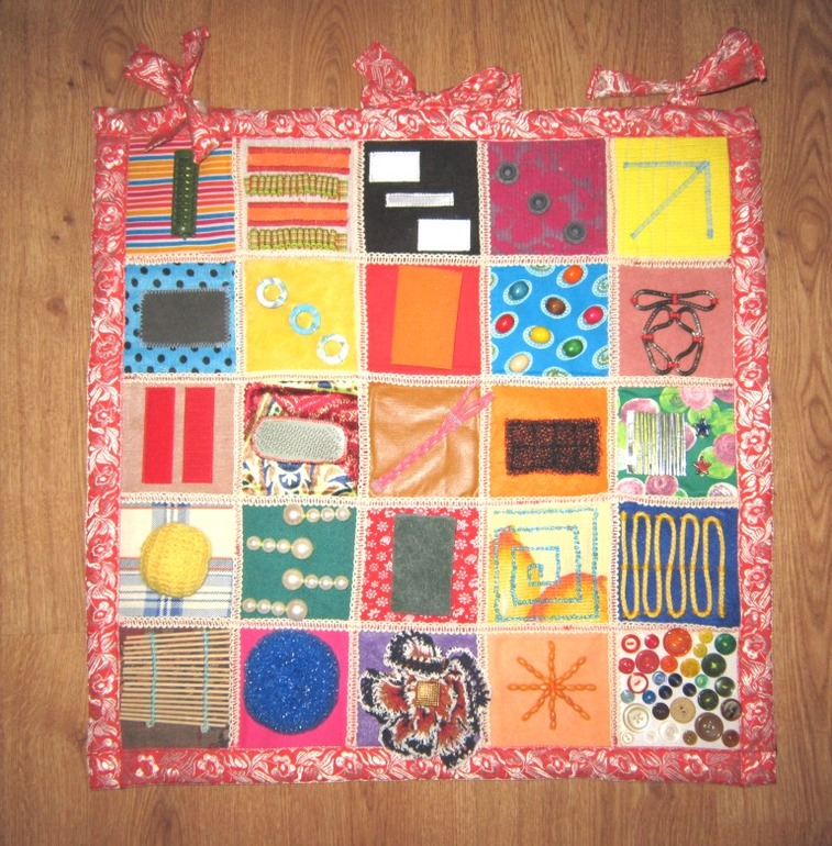 Сенсорный коврик для детей своими руками 63