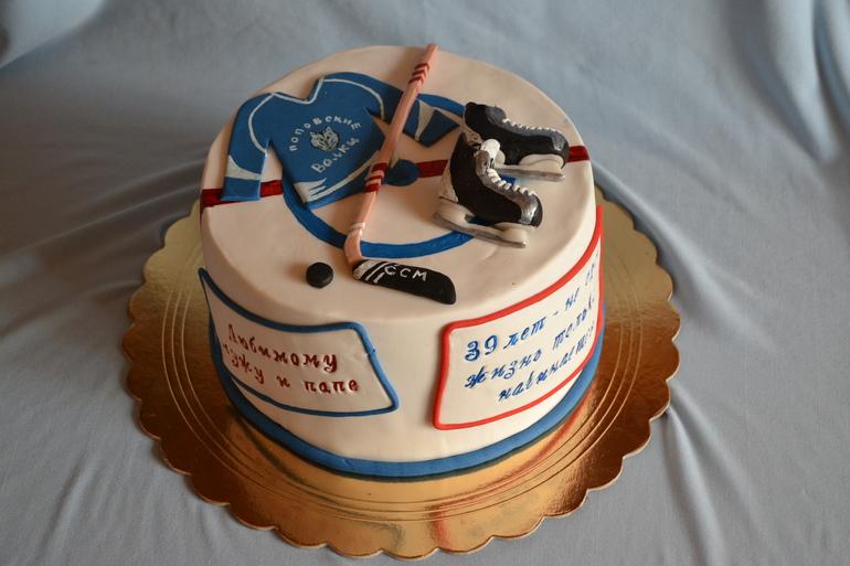 Торт для хоккеиста без мастики
