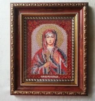 Валентин святой икона вышивка