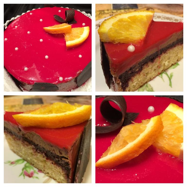 Бисквитный торт с зеркальной глазурью рецепт пошагово в