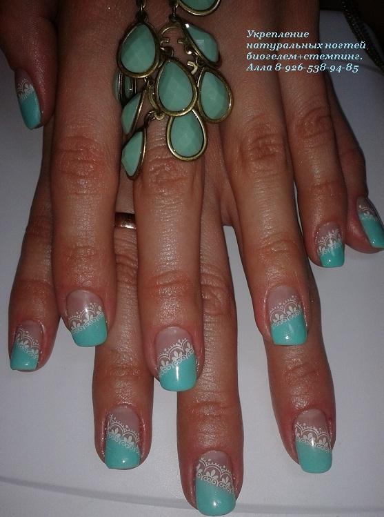 Укрепление ногтей цветным биогелем. Шеллак. Маникюр.