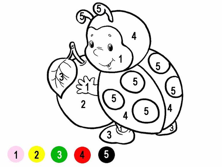 раскраски по цифрами для детей распечатать раскраски по