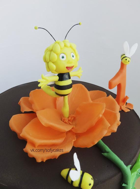 пчелка майя из мастики на торт простой рецепт