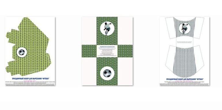 Коробочки для гостинцев в футбольном стиле (3 вида)