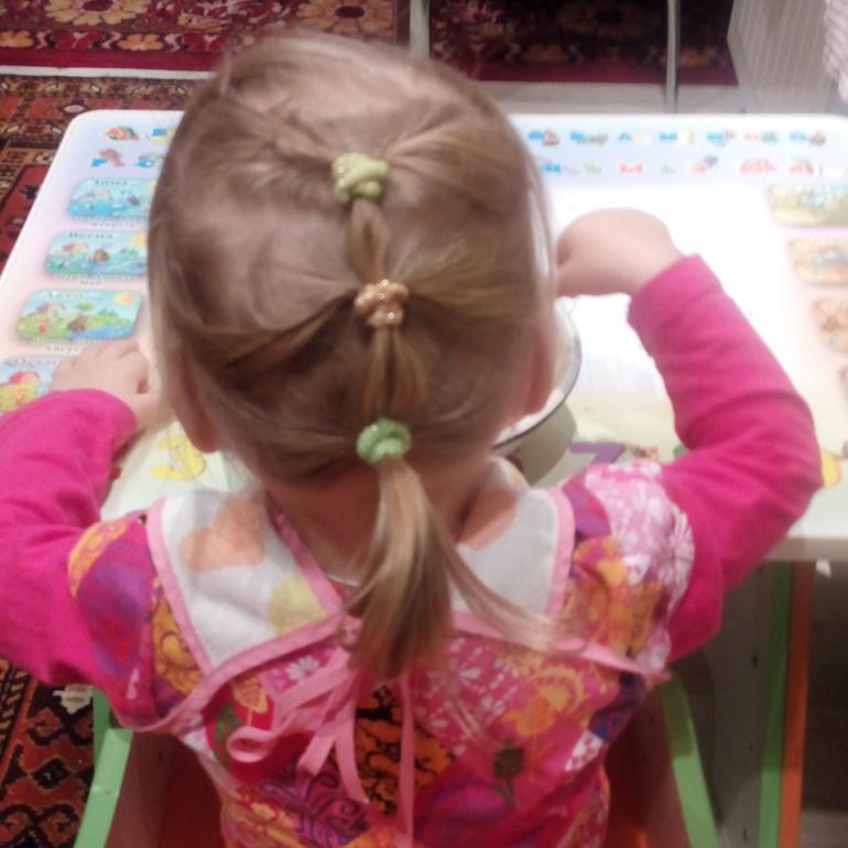Детские причёски из косичек с хвостиками