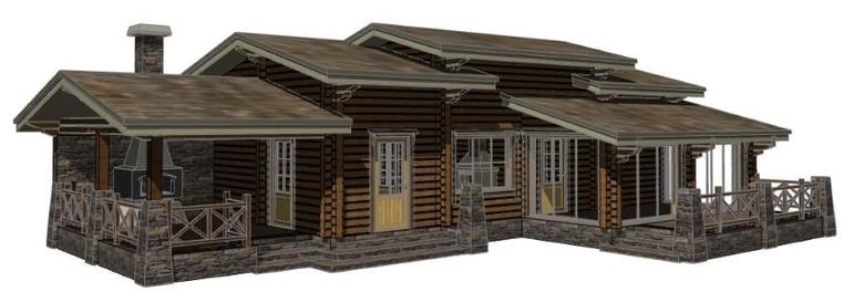 Гостевой дом - баня с зоной барбекю китайские электрические камины опт