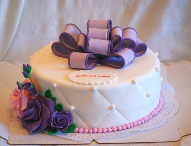 Торт на день рождения маме фото из мастики