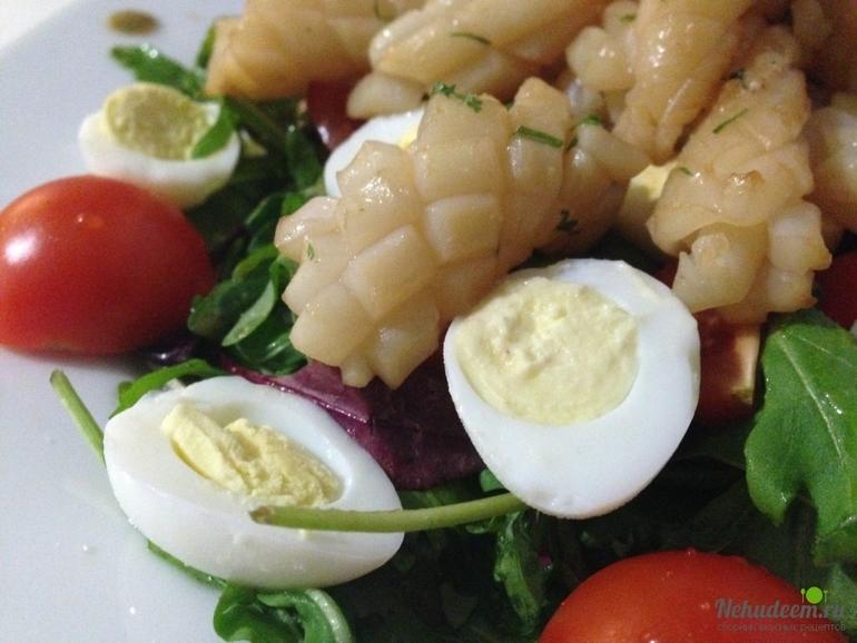 Рецепты закусок и салатов с кальмарами с