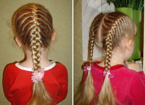 какие прически можно сделать в школу фото только не косы