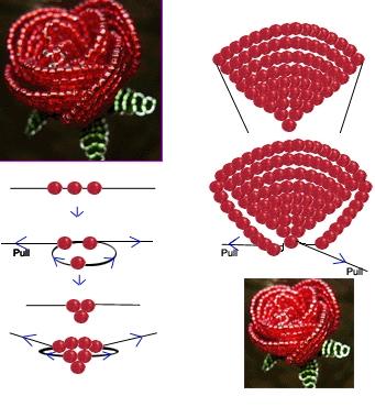 Итак, схемы плетения из бисера