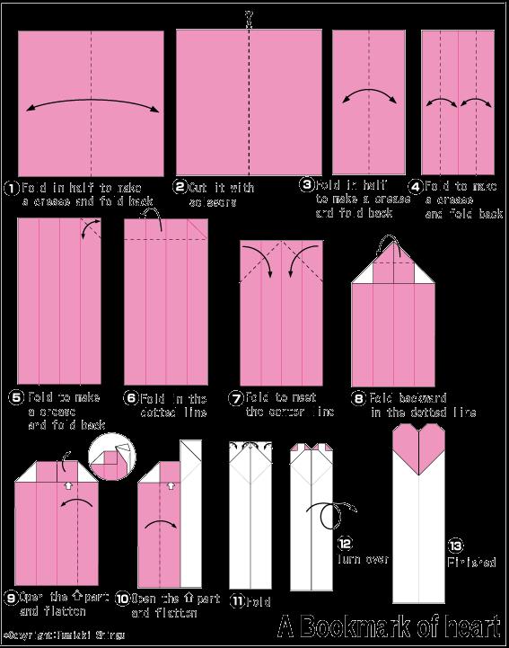 Как сделать из бумаги закладку карандаш видео