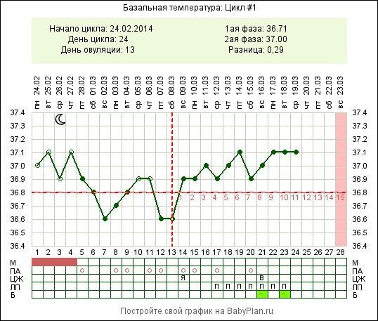 Сколько должна быть базальная температура при беременности