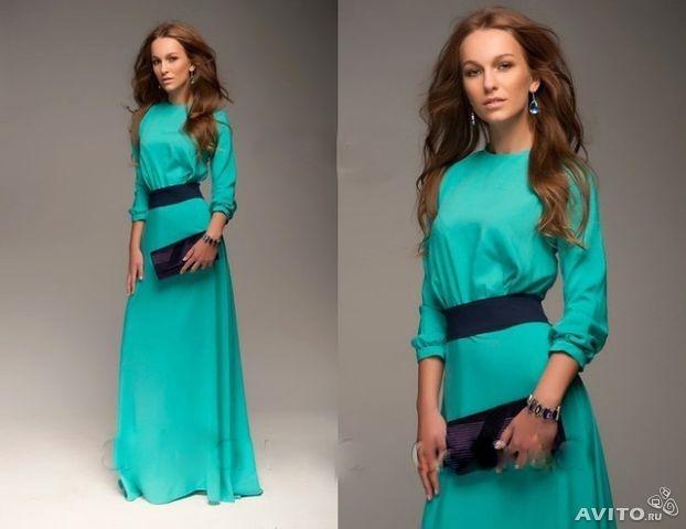 Платья из трикотаж масло фото