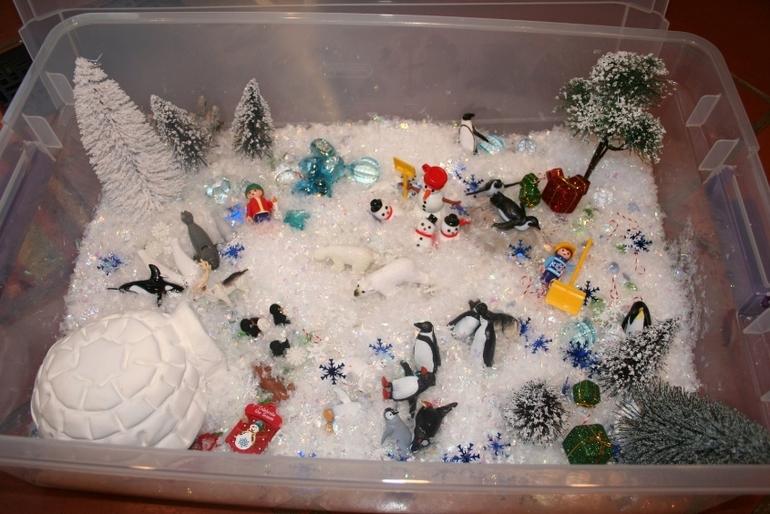 Коробка для игрПоделка на тему зима в