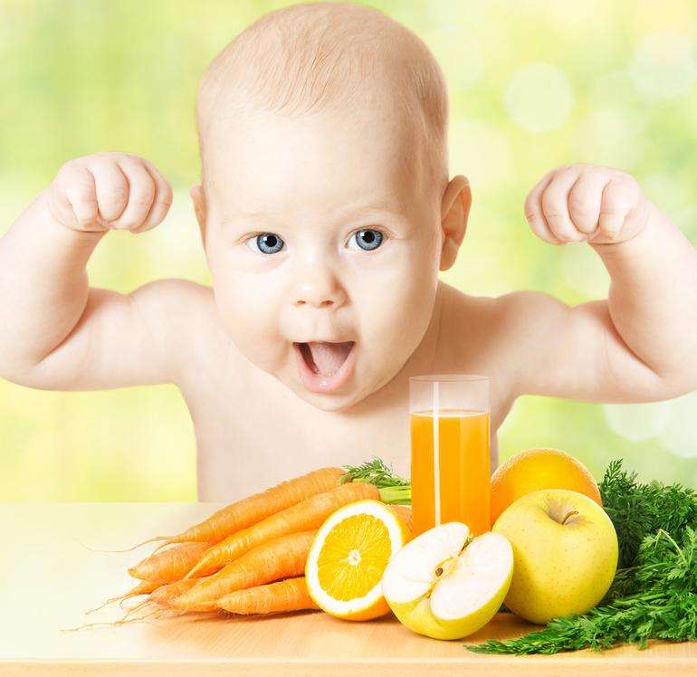 Витамины C и E на страже иммунитета ребенка