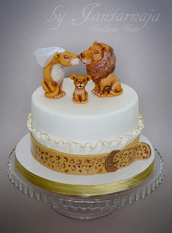Картинки тортики львы