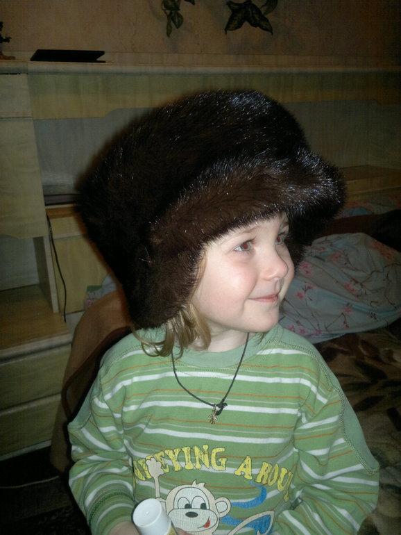 Норковая  шапка  р.56
