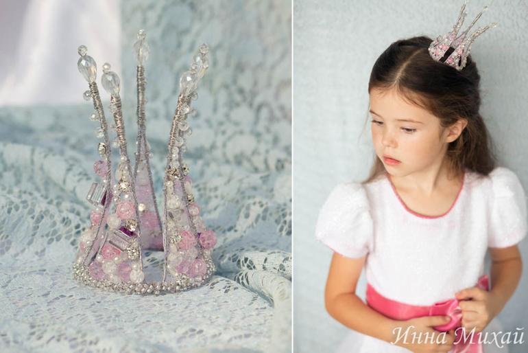 Украшение принцессы своими руками