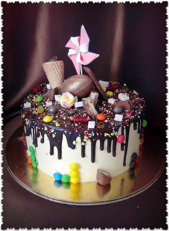 Шоколадный торт на день рождения ребенка своими руками