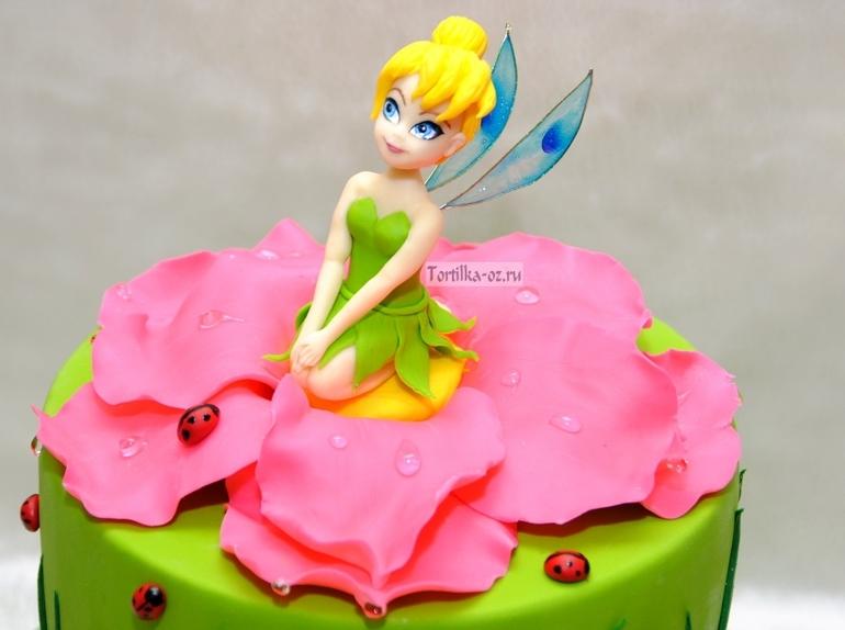 Торт из мастики фея - фото