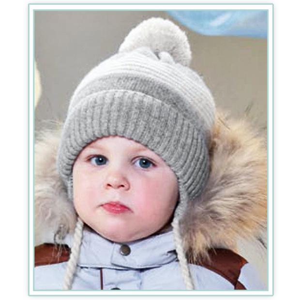 Как связать шапочку для мальчика 6 месяцев2