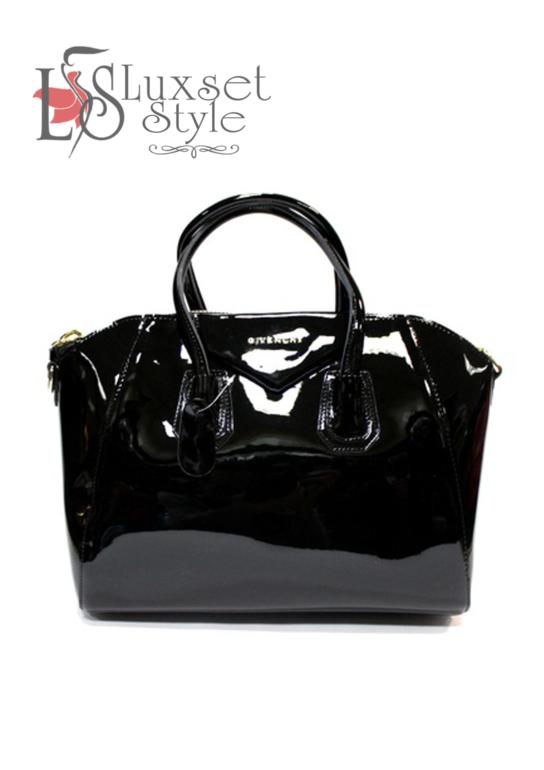 6dfa56c19db7 ... возможность купить сумку Givenchy по доступной цене. Размер: длина: 42,  высота: 29, ширина: 17. Материал: натуральная кожа лакированная. Цвет:  черный