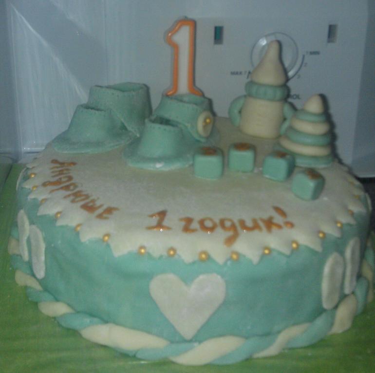 мой  первый  тортик!