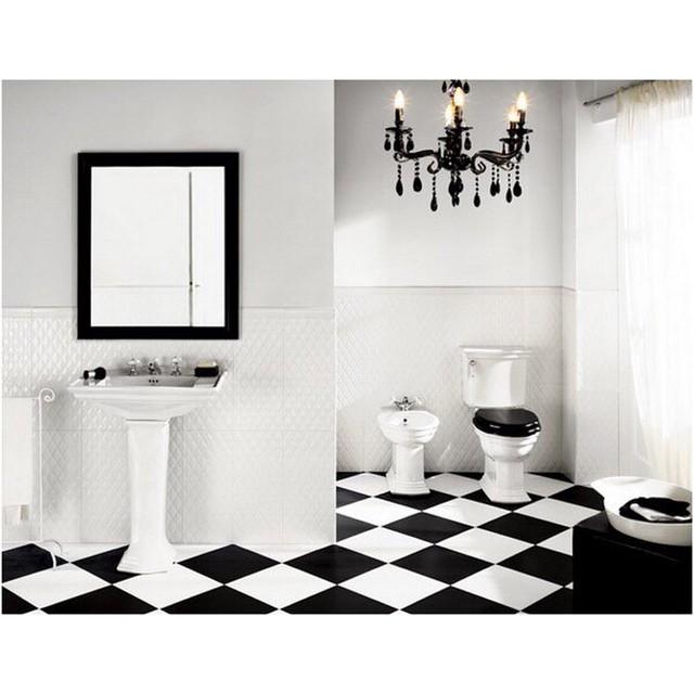 Ванная дизайн шахматном порядке