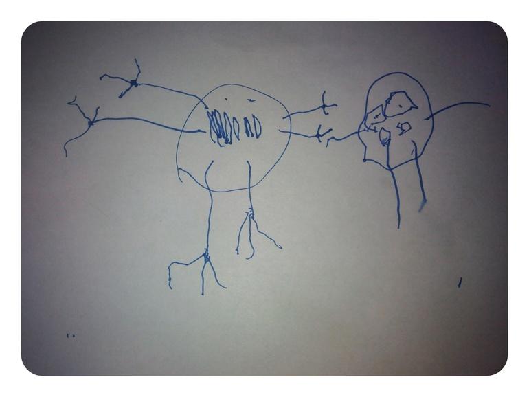 Рисунки  сына  и  отца.