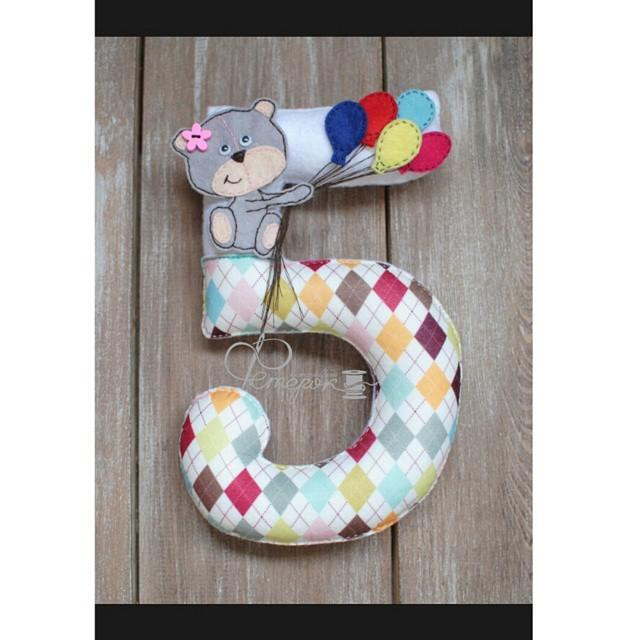 Цифры для дня рождения из фетра своими руками 8