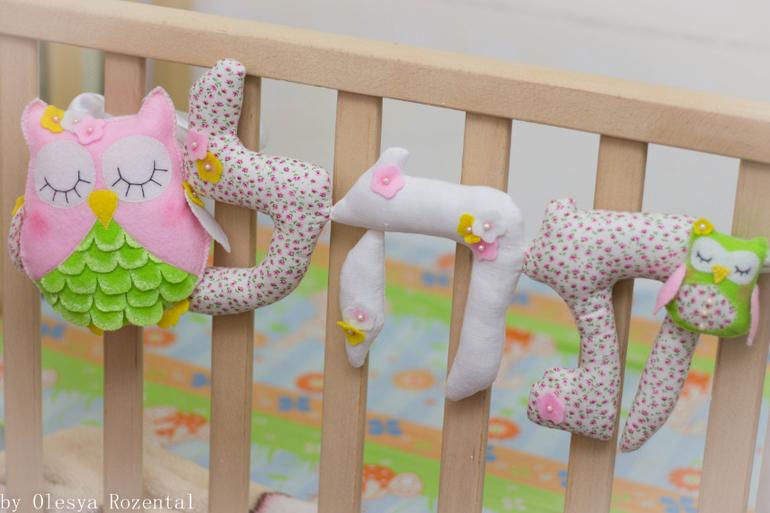 Буквы в кроватку для новорожденных выкройки буквы