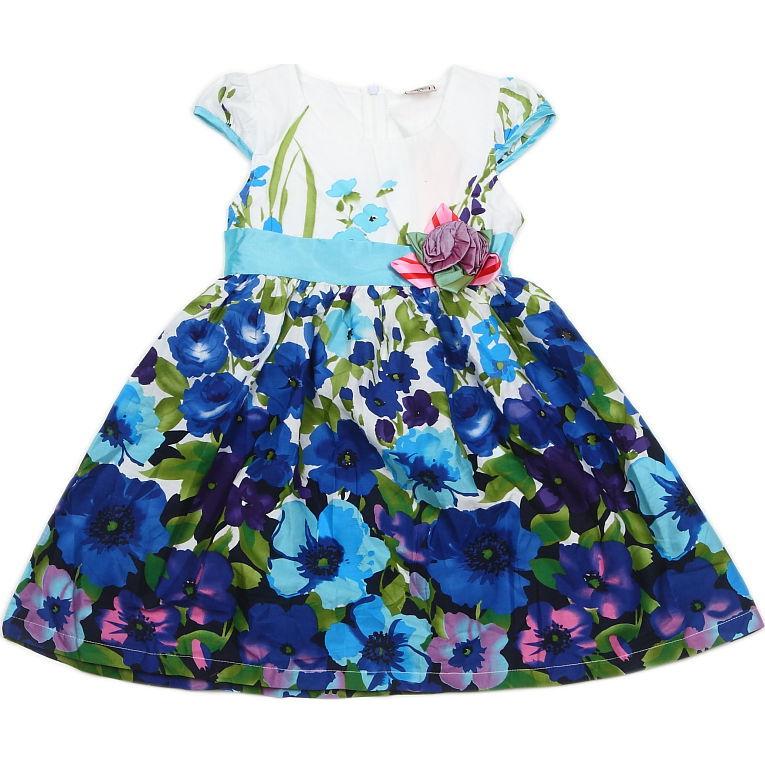 Купить Хлопковое Платье Для Девочки