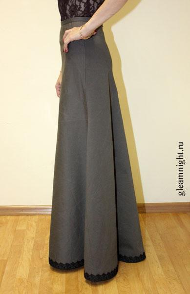 Теплые  длинные  юбки  в  пол