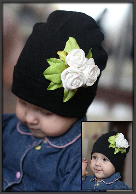 Цветок на шапке своими руками 44