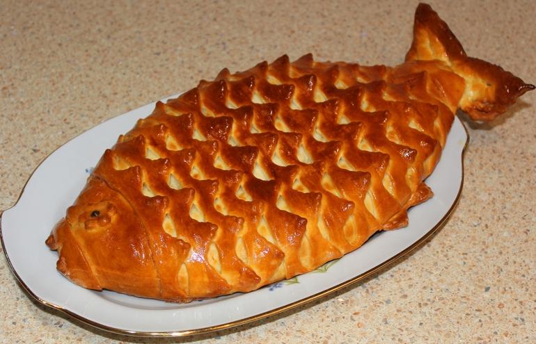 Пирог с рыбой рецепт с фото пошагово в духовке
