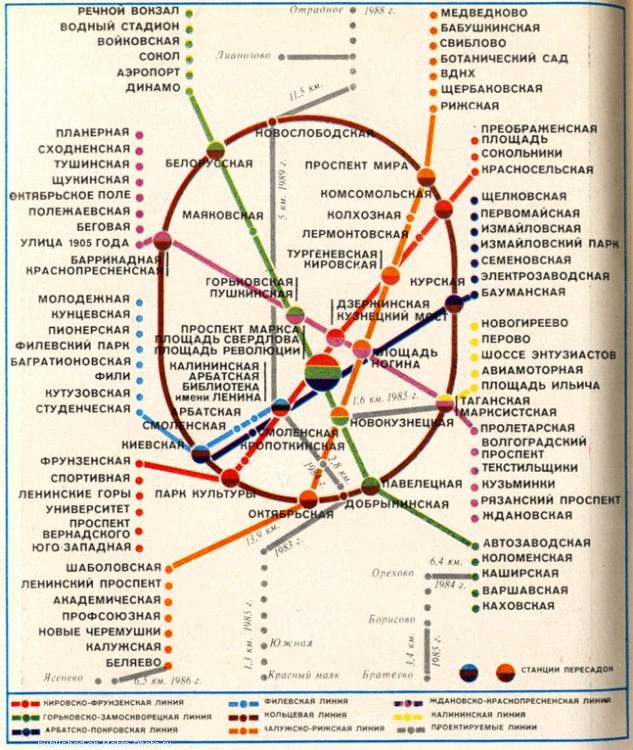 Современную схему метро
