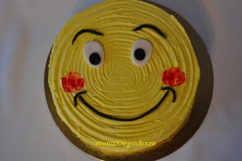 Торт смайлик своими руками 81