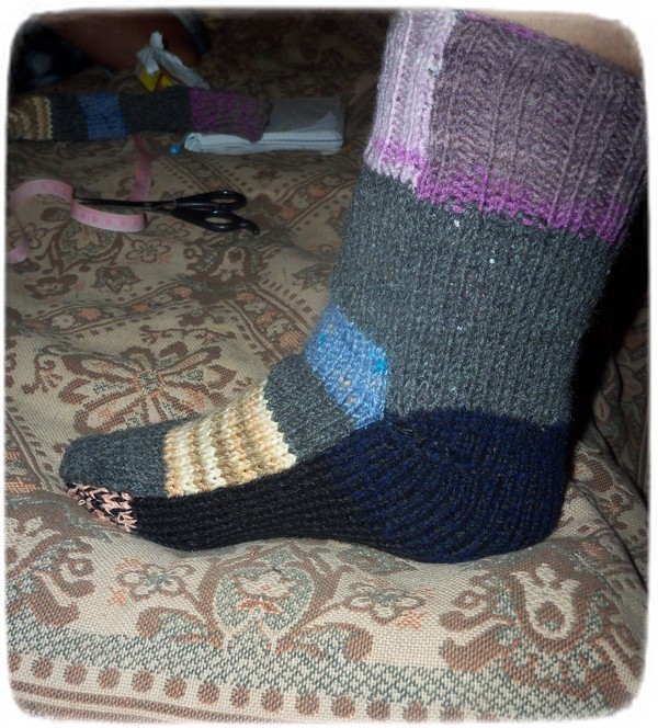 Мастер класс вязание носков на 2-х спицах 57