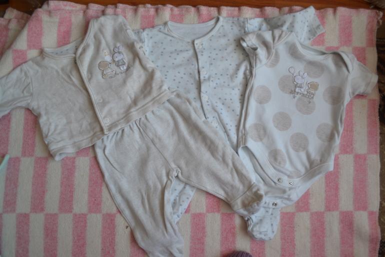 одежда для мальчика 0-3 мес