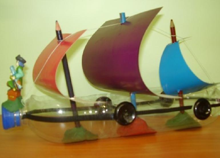 Сделать кораблик своими руками из бутылки