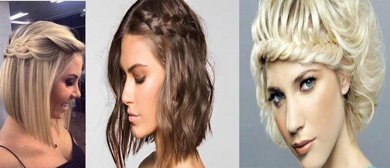 Вечерние причёски на каре с удлинением
