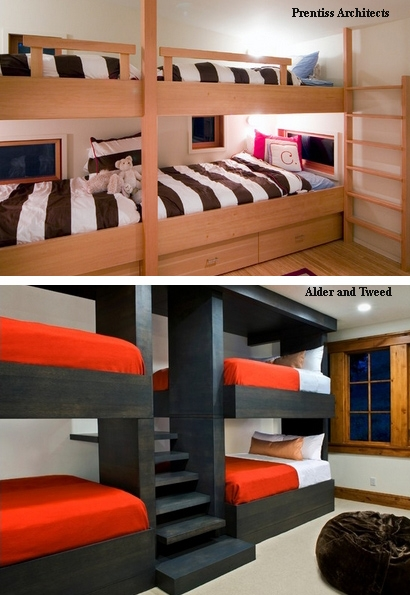 Двухъярусная кровать на всю стену своими руками