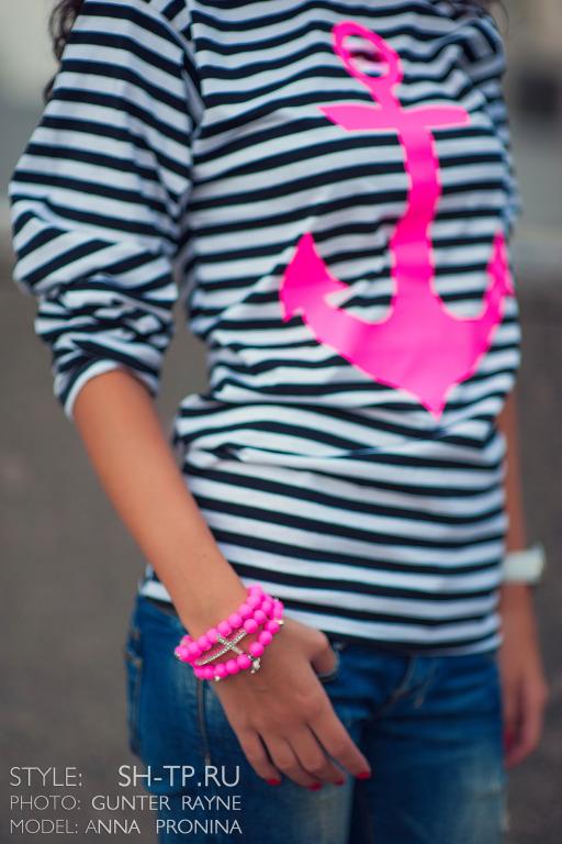Тельняшка Шанель С Розовым Знаком