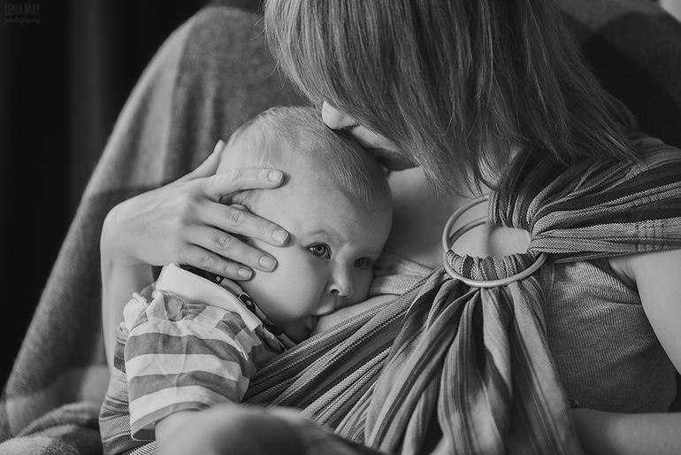 С молоком матери. Лена и маленький Лёвушка